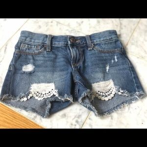 Girls Old Navy Ripped Jean Shorts